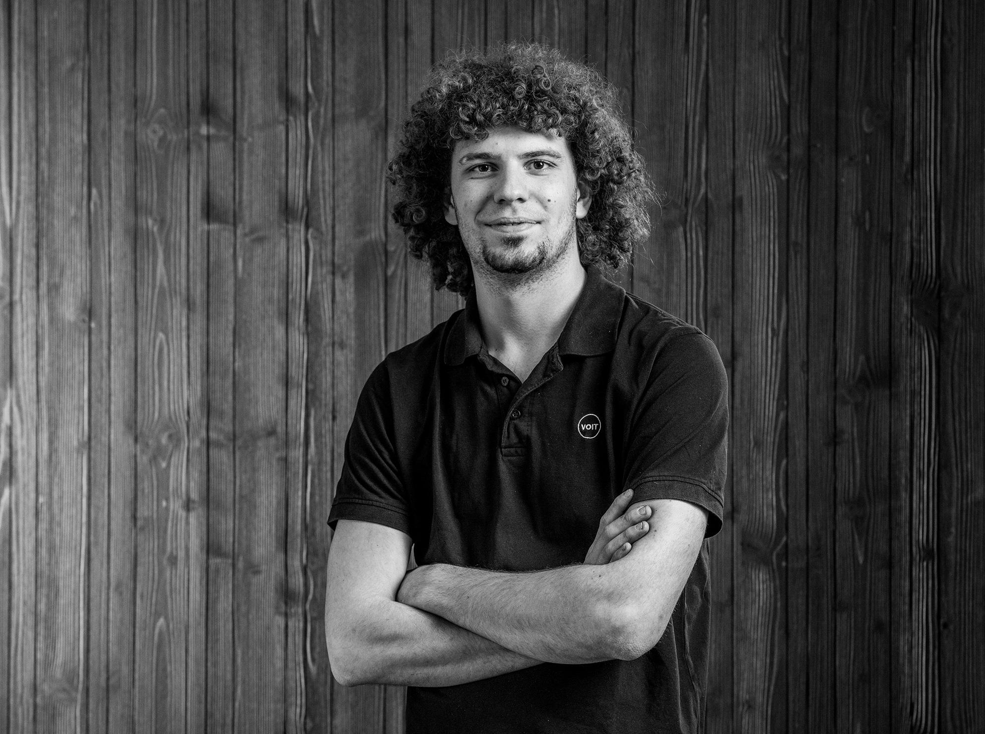 Portrait von Maxi Payenberg - Schreiner - Schwarz-weiß Bild