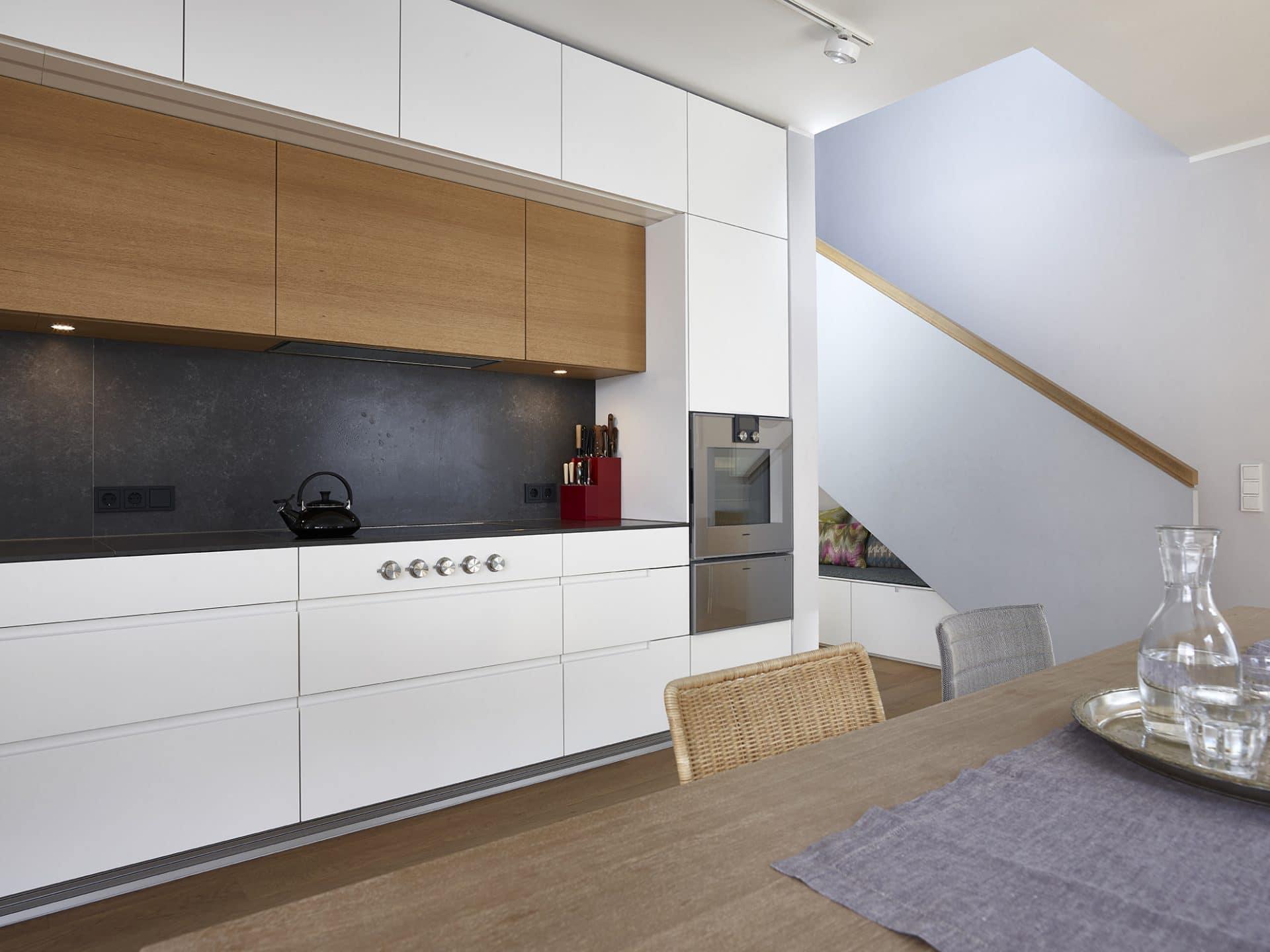 Projekt 06 Innenausbau - Eiche natur + BetonART + Edelstahl