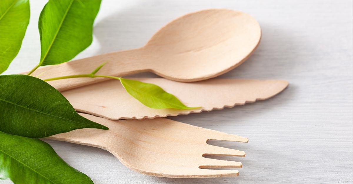 Nachhaltiges Besteck aus Holz