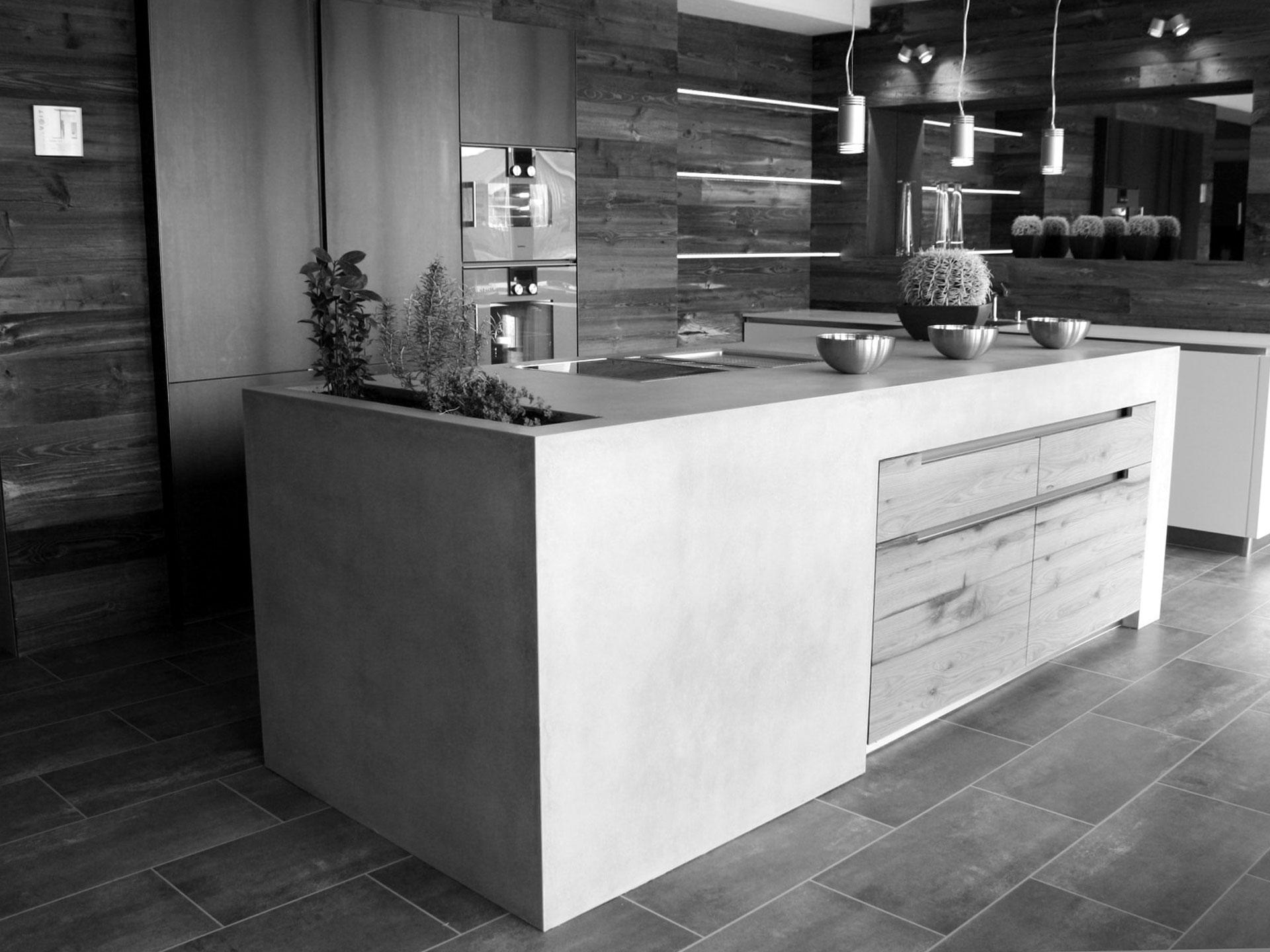 Ausstellungsküche im Showroom von VOIT